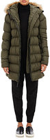 The North Face WOMEN'S QUILTED TECH-FABRIC HOODED JACKET-DARK GREEN SIZE L