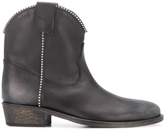 Via Roma 15 Western Style Ankle Boots