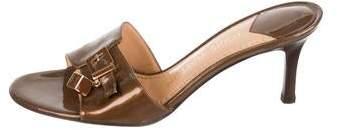 Louis Vuitton Patent Leather Logo Sandals