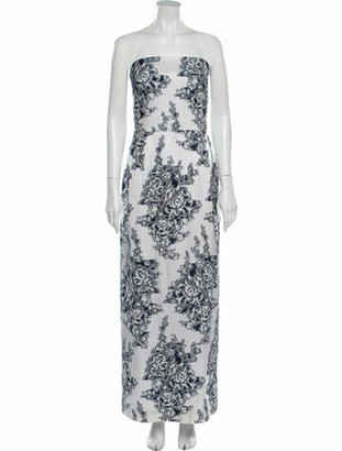 Oscar de la Renta 2020 Long Dress Blue