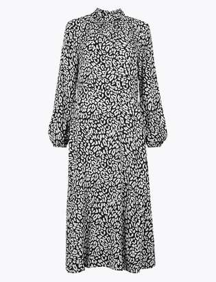 M&S CollectionMarks and Spencer Animal Print Fit & Flare Midi Dress