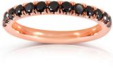 Kobelli Jewelry Kobelli 1/2 CT TW Black Diamond 14K Rose Gold Comfort-Fit Wedding Band
