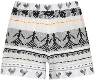 Devotion Iro Embroidered Cotton Shorts