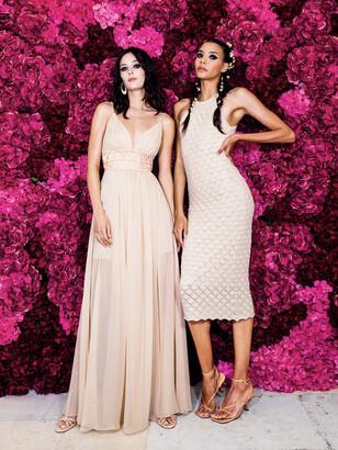 Alice + Olivia Lulu Halter Neck Midi Dress