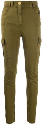 Balmain Panelled Skinny Cargo Trousers
