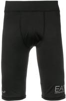Emporio Armani Ea7 logo print compression shorts