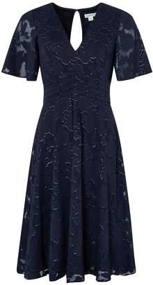 Monsoon Laurina Fabric Interest Short Dress - Navy