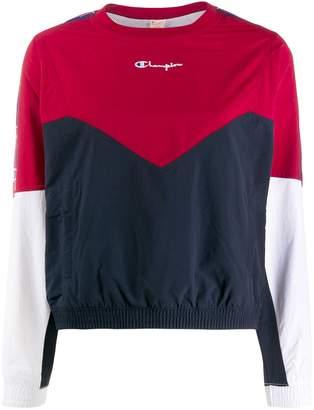 Champion colour block layered sweatshirt