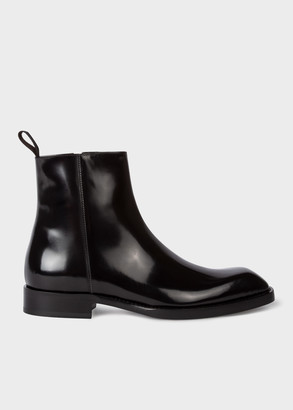 Paul Smith Women's Black 'Ryde' Boots With 'Archive Rose' Sole