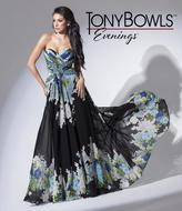 Mon Cheri TB Evenings by Mon Cheri - TBE11548 Long Dress In Black Green Multicolor