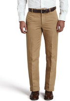 Incotex Chinolino Cotton/Linen Trousers, Khaki