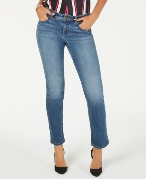 INC International Concepts Inc Straight-Leg Jeans with Tummy Control, Created for Macy's