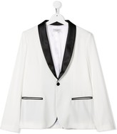 Paolo Pecora Kids contrast-lapel fitted blazer