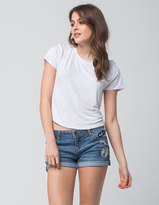 Vanilla Star Premium Patch Womens Denim Shorts