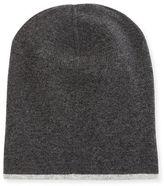 Brunello Cucinelli Cashmere Reversible Hat w/Fold-Over Brim