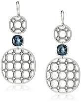 Rebecca Rebecca34;Seventies34; White with Swarovski Crystals Earrings