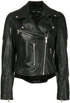 Proenza Schouler biker jacket - women - Lamb Skin/Polyester/Viscose - 4