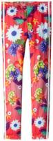 adidas Originals Kids Floral Graphic All Over Print Leggings Girl's Casual Pants