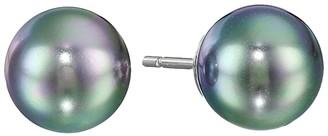 Majorica 8mm Pearl SS Earrings (Gray) Earring