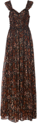Ulla Johnson Evianna Printed Silk-Blend Maxi Dress
