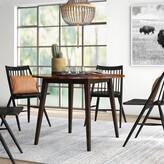 Hidalgo Drop Leaf Acacia Solid Wood Dining Table Millwood Pines