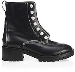 3.1 Phillip Lim Women's Hayett Faux Pearl Leather Combat Boots