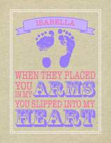 Isabella Collection Paint Can Designs Burlap Heart Personalized Canvas