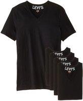 Levi's Men's 100 Series 4-Pack V-Neck T-Shirt