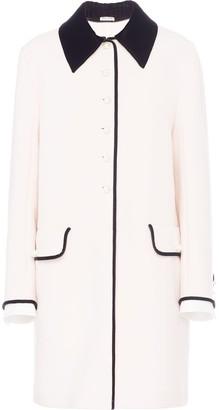 Miu Miu Contrast-Trim Button-Down Coat