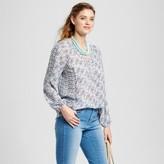 Zac & Rachel Women's Mix Printed Peasant Blouse