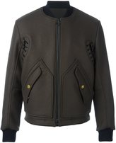 Tim Coppens MA-1 laced bomber jacket - men - Virgin Wool/Acetate/Cupro/Polyester - M