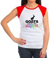 CafePress - GOATS Make Me Happy T-Shirt - Women's Cap Sleeve T-Shirt