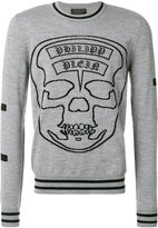 Philipp Plein embroidered skull design sweatshirt