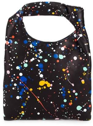 Loeffler Randall Mini Knot Splatter Print Hobo Bag