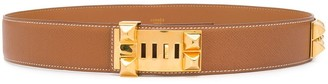 Hermes Studded Adjustable Belt