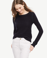 Ann Taylor Petite Scallop Textured Sweater