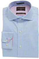 Black Brown 1826 Gingham Check Cotton Dress Shirt