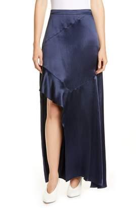BOSS Rilani Slit Satin Maxi Skirt
