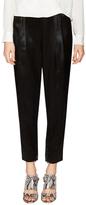 Diane von Furstenberg Crosby Zip Cuff Cropped Pant