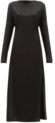 ALBUS LUMEN Aziza Silk-satin Maxi Dress - Womens - Black