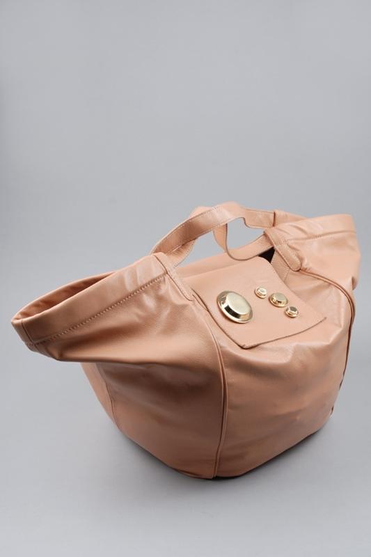 Gustto Estiva Leather Shopper Bag