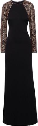 Rachel Zoe Miabella Sequin-embellished Tulle-paneled Crepe Gown