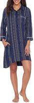 Donna Karan Indigo Woven Sleep Shirt