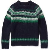 J.crew - Fair Isle Brushed Alpaca-blend Sweater