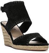Via Spiga Izett Suede Ankle Strap Espadrille Wedge Sandals