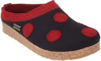 Haflinger Wool Felt Polka Dot Clogs - Dotty