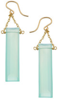 Heather Hawkins Baguette Gemstone Drop Earrings