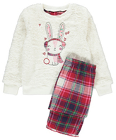 George Fleece Bunny Rabbit Pyjamas Gift Set