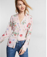 Express Slim Fit English Garden Portofino Shirt
