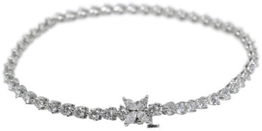 Tiffany & Co. 950 Platinum 4.13tcw Diamond Line Bracelet